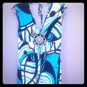 GORGEOUS TANK TOP WITH SILVER METAL EMBELLISHMENTS